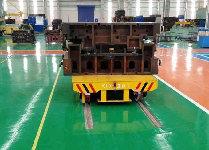 Foundry plant mold transfer trolley steel die mold handling inter-bay