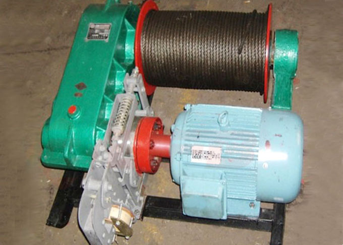 10t towed wire rope electric winch for construction pulling