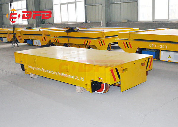 Unlimited Distance Steel Rail Transfer Cart , Research Battery Powered Heavy Duty Cart